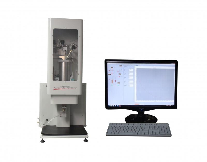 Unsteady State Gas Permeameter & Porosimeter at Overburden Pressure